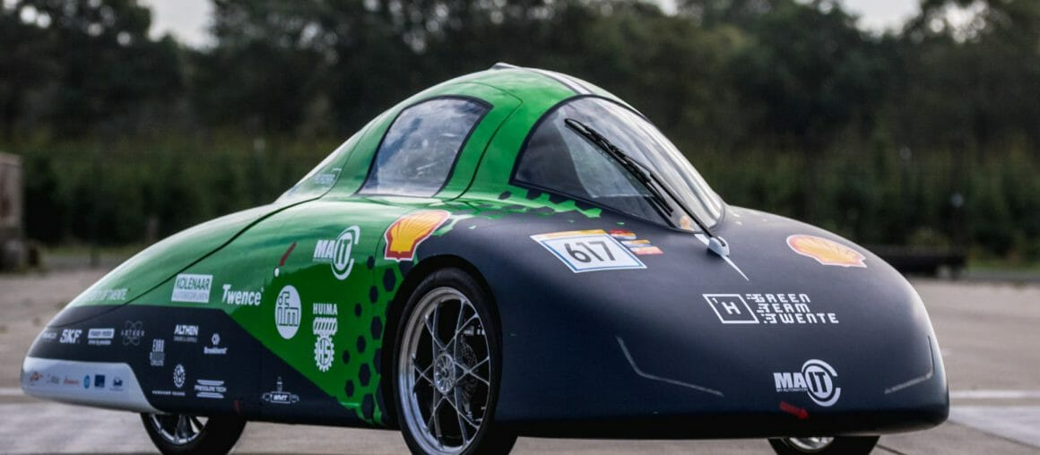 University of Twente builds the most efficient hydrogen car with hub motor