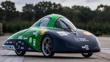 Universiteit bouwt zuinige waterstof auto met in-wheel motor